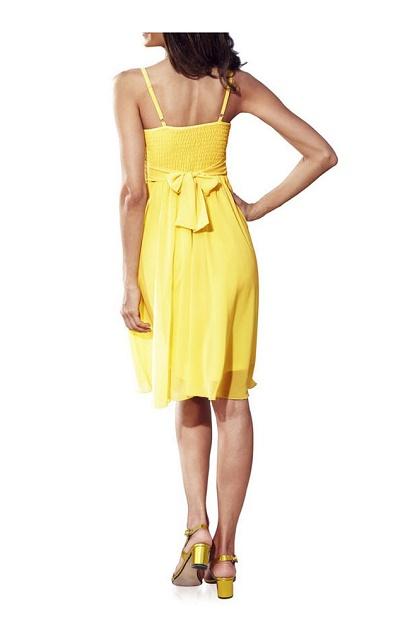 3a5a1eed2750 Kokteilové žlté šaty Ashley Brooke - Violettemoda.sk