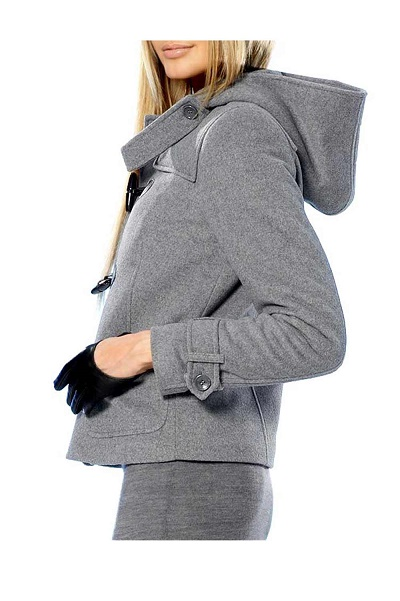 Vlnený kabát s kapucňou APART - Violettemoda.sk 638fec49da8