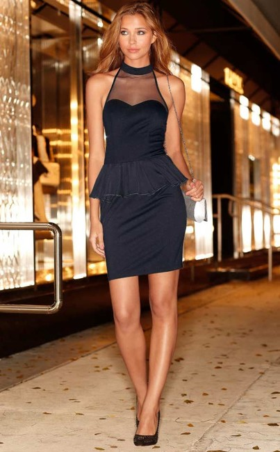 b1bf01838087 Malé čierne peplum šaty BUFFALO - Violettemoda.sk