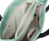 Štýlová kabelka v zelenej farbe