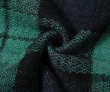 Šál s veľkým káro, modro-zelený