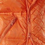 Páperová vesta s pravou kožušinou, oranžová