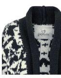 Pletený pulóver Gwynedds, modro-biely