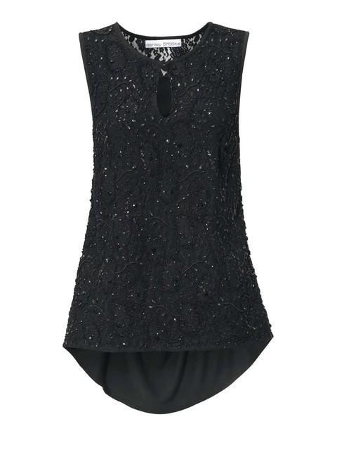 Čierny elegantný top