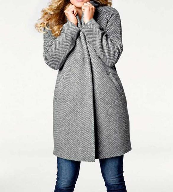 Vlnený kabát Linea Tesini, sivý