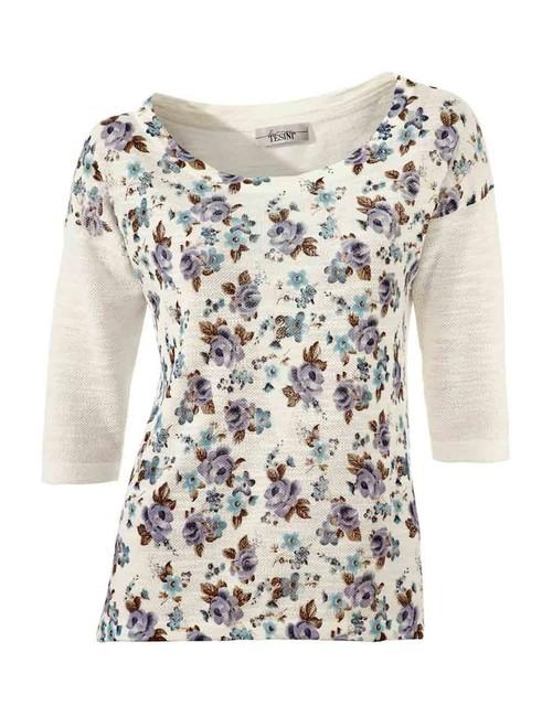 Kvetinové tričko Linea Tesini