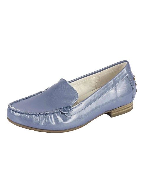 f043c3030fb10 Kožené lakované topánky Gabor, modro-sivá - Violettemoda.sk