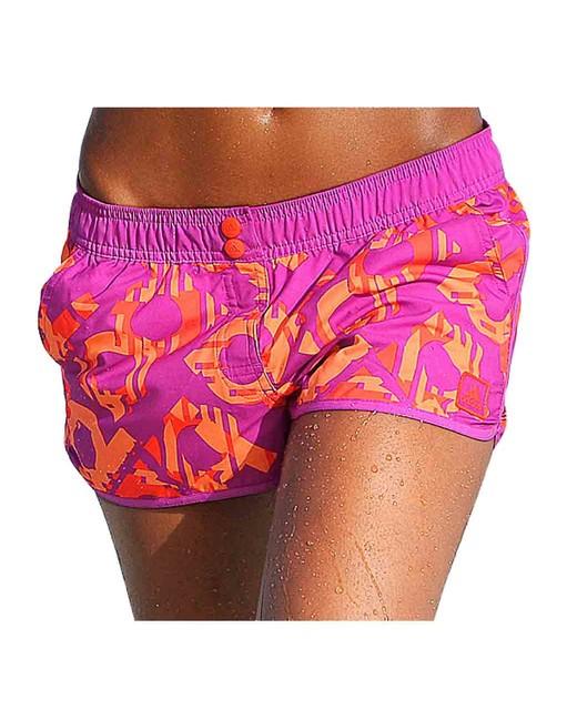 Športové kraťasy ADIDAS, ružovo-oranžová