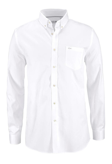 b73fcc8d3d462 LACOSTE pánska košeľa, biela - Violettemoda.sk