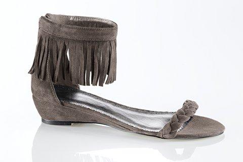 Dámske sandále HEINE - hnedosivá - 39