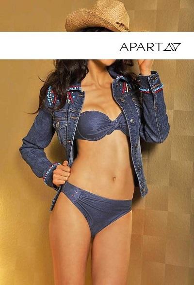 Dámske plavky APART - modrá - 40/B