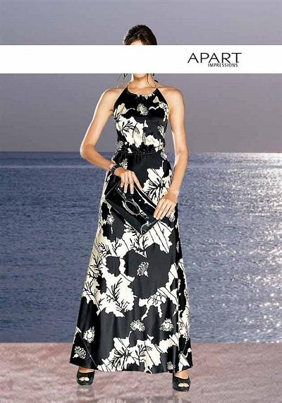 Dámske šaty APART - čierno–krémová - 36