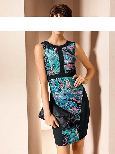 Dámske šaty Mandarin - multikolor - 46
