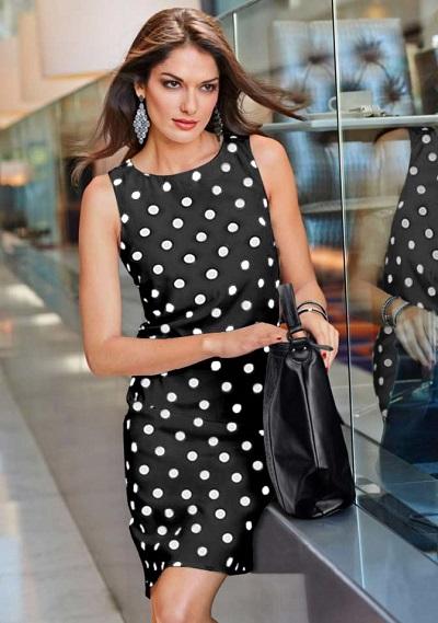Dámske šaty Vivance Collection - čierno–biela - 40
