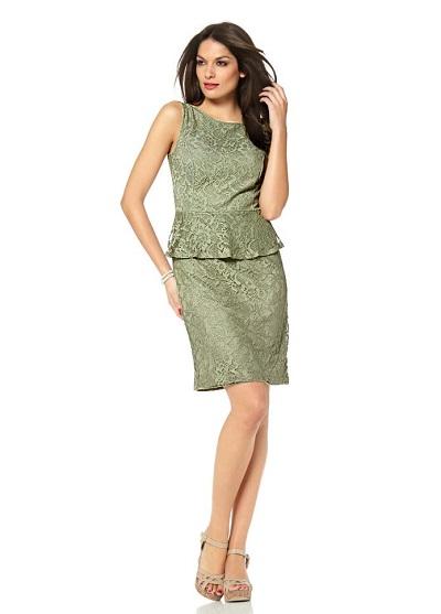 Dámske šaty Vivance Collection - olivová - 34