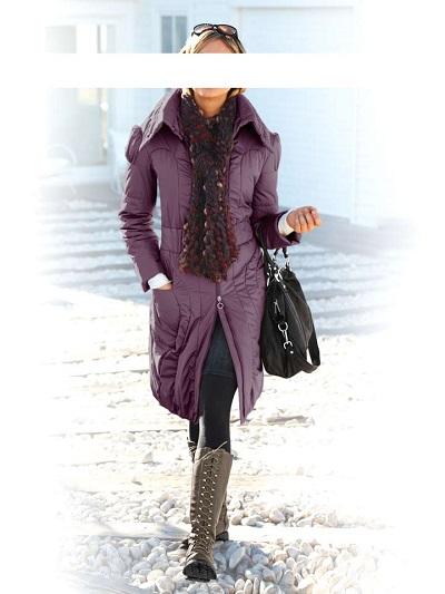 Dámsky kabát HEINE - fialová - 44