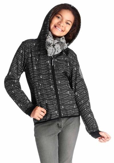 Detská softshellová bunda CFL - čierno–biela - 128/134