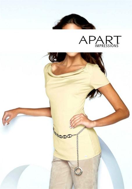 Hodvábny pulóver APART - svetložltá - 44