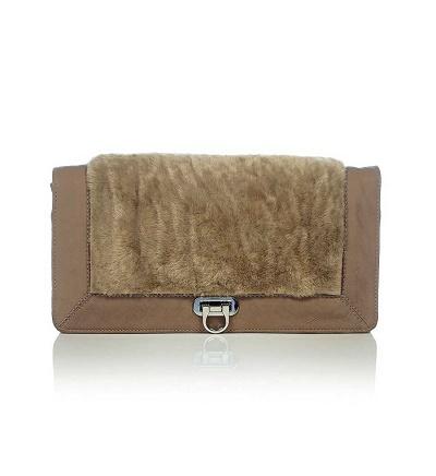 Plyšová kožená kabelka Phenomene