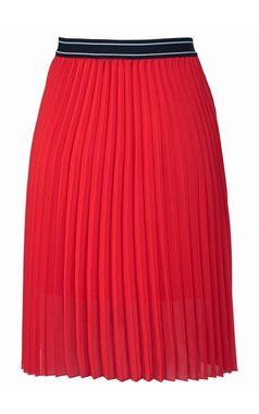 Aniston plisovaná sukňa, červená