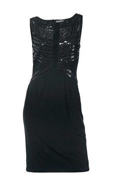 Ashley Brooke šaty s flitrami, čierne