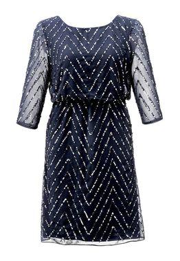 Ashley Brooke šifónové šaty modré