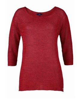 Atraktívny červený pulóver Tom Tailor