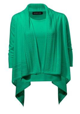 Atraktívny twinset, zelený