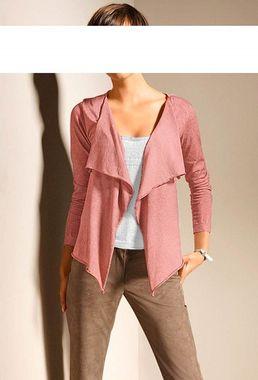 Bavlnený ružový sveter HEINE