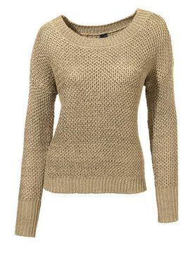 Béžový pulóver s flitrami HEINE - B.C.