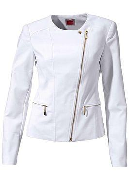 Biele sako so zlatými zipsami Travel Couture