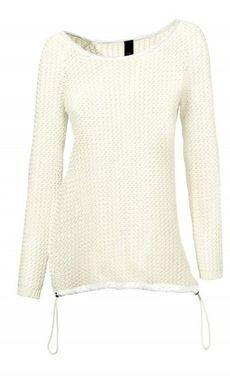 Biely ležérny pulóver so saténom HEINE - B.C.