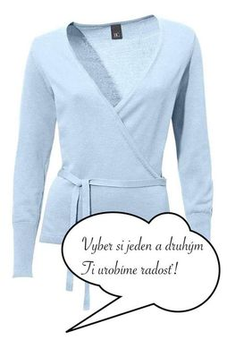 Bledomodrý zavinovací sveter HEINE - B.C.