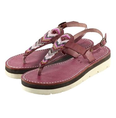 Bordové sandálky Laidback London