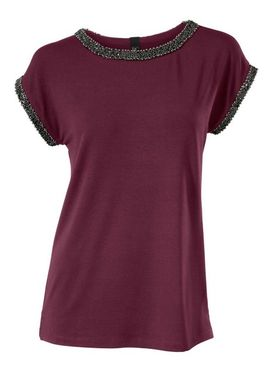 Bordové tričko s perličkami Heine B.C.