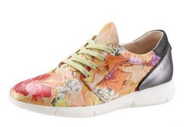 Celokožené kvetované tenisky I´m walking