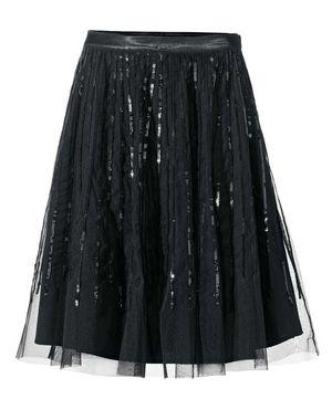 Čierna tylová sukňa s flitrami Ashley Brooke