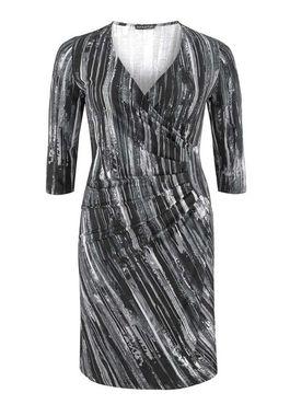 Čierno biele pohodlné šaty APART