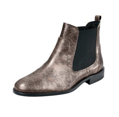 Členkové topánky s kovovým efektom Heine