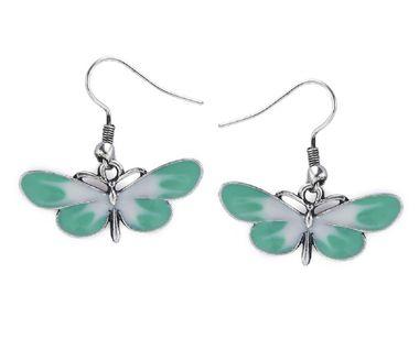 Dámske náušnice s motýľom