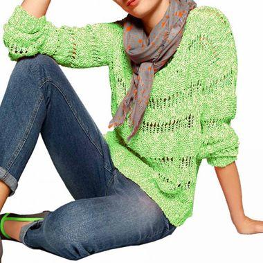 Dámsky zelenkavý pulóver HEINE
