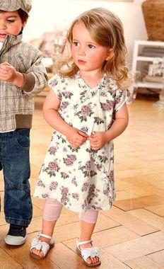 Detské kvetované šaty farebné