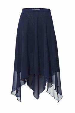 Dvojvrstvová šifónová sukňa, polnočná modrá