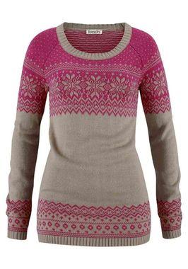 Dlhý pulóver s nórskym vzorom BOYSENS