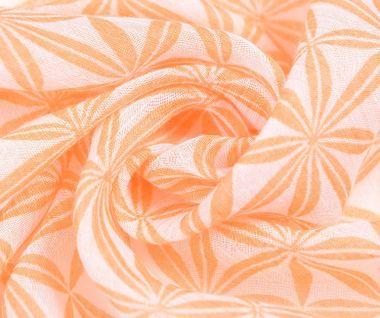 Dlhý šál s etnickým vzorom - oranžový