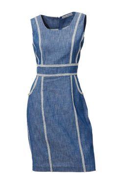 Džínsové púzdrové šaty