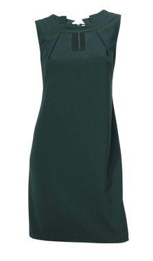 Elegantné tmavo-zelené šaty
