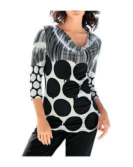 Elegantné tričko s guľkovaným vzorom Heine