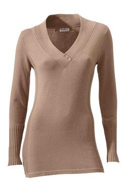 Elegantný béžový pulóver Class International