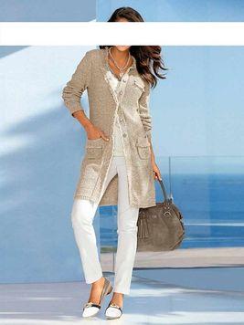 Elegantný pletený kabát Class International